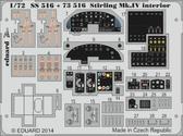 Фототравление 1/72 Stirling Mk.IV интерьер , самоклеющийся (Italery)