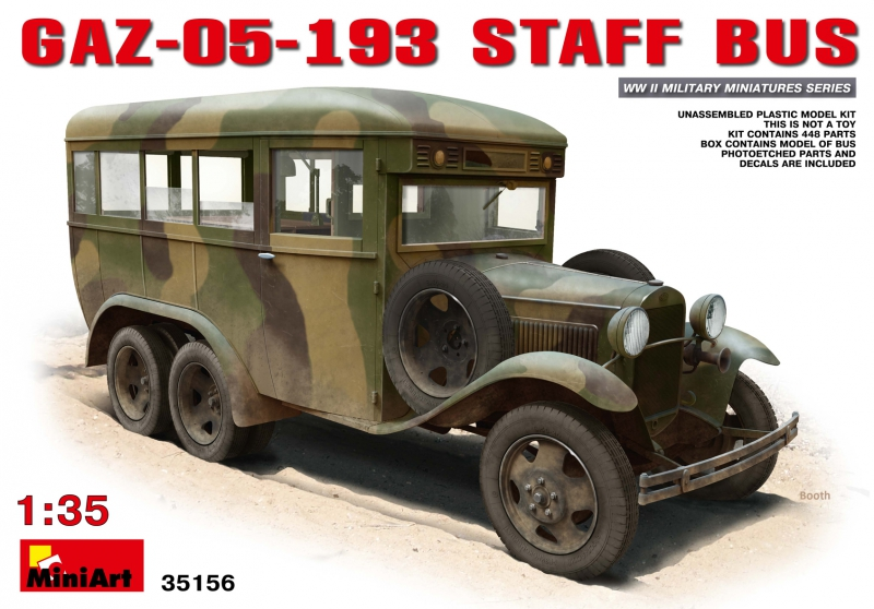 Штабной автобус ГАЗ-05-193 MiniArt 35156