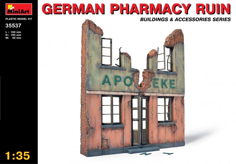 Руины немецкой аптеки MiniArt 35537