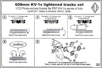 Фототравление: Траки для танка КВ-1с Ace 7241