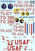 Декаль для самолета F-82 Twin Mustang от Print Scale