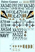 Декаль для самолета Fairey Gannet