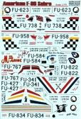 Декаль для самолета F-86E Sabre