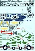 Декаль для самолета Grumman F9F Panther