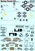 Декаль для вертолета Boeing-Vertol 107, часть 2