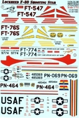 Декаль для самолета Lockheed F-80 Shooting Star