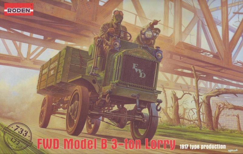3-тонный грузовой автомобиль FWD Model B Roden 733