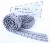 Металлические траки для танка Pz.Kpfw III / IV  (зимние, ранний тип) собранные в ленту