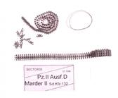Металлические траки для Pz.II Ausf.D (собранные в ленту)
