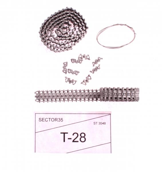 Металлические траки для T-28 (собранные в ленту) Sector35 3548