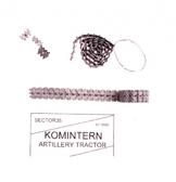 Металлические траки для для тягача Komintern (собранные в ленту)