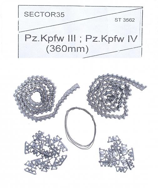 Металлические траки для Pz-III, IV (собранные в ленту) Sector35 3562