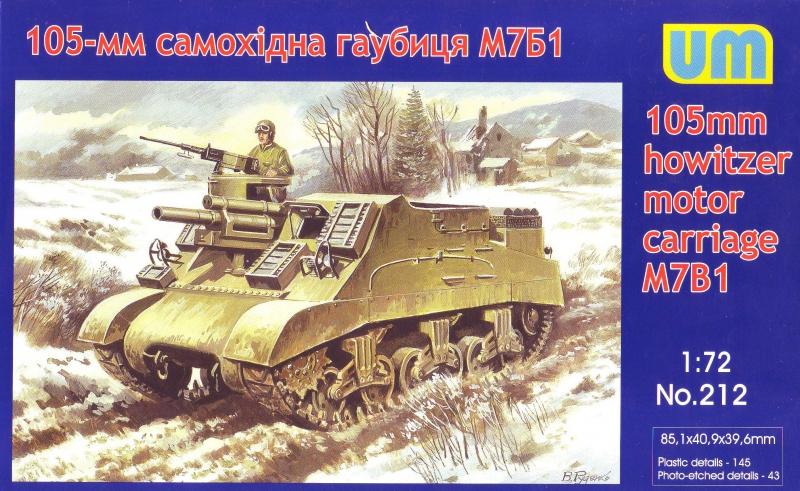 105-мм самоходная гаубица М7Б1 Unimodels 212