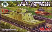PL-43 броневагон с Т-34/76 башней