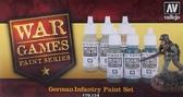 Набор красок Немецкая пехота War Games, 6 шт