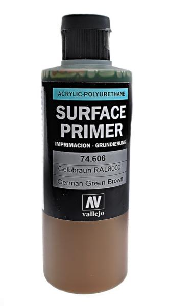Акрил-полиуретановая грунтовка: German Green Brown RAL 8000 200 мл Vallejo 74606