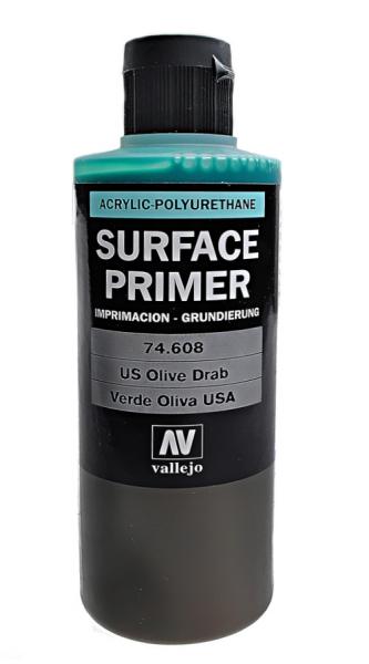 Акрил-полиуретановая грунтовка: U.S. Olive Drab 200 мл Vallejo 74608