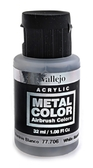 Краска акриловая Metal Color белый алюминий, 32 мл