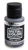 Краска акриловая Metal Color полу-матовый алюминий, 32 мл