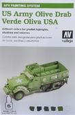 Набор красок  AFV Army olive drab, 6 шт