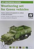 Набор красок Цветовая модуляция для везеринга зеленых моделей транспортных средств