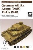 Набор красок Цветовая модуляция немецкого африканского корпуса 1941/42 (ДАК)