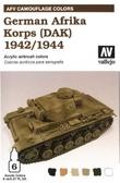 Набор красок Цветовая модуляция немецкого африканского корпуса 1941/44 (ДАК)