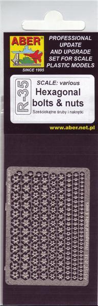 Шестигранные болты и гайки (различного масштаба) / Hexagonal bolts & nuts Aber 35