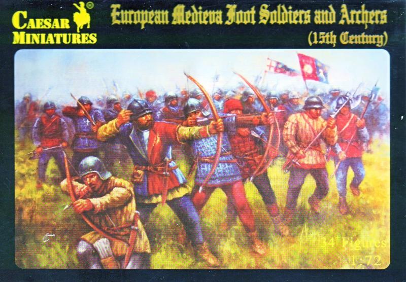 Средневековые европейские пехотинцы и лучники 15-го века Caesar 088
