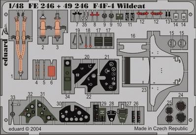 Фототравление 1/48 F4F-4 Wildcat (Tamiya) Eduard 246