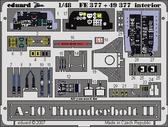 Фототравление 1/48 A-10 Tандерболт II интерьер (цветная, рекомендовано для Italeri)
