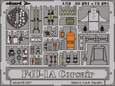 Фототравление 1/72 F4U-1A Корсар (рекомендовано для Tamiya)