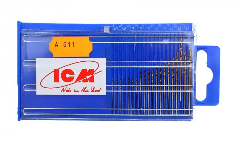 Мини - сверла 0,3-1,6 мм (20 шт.) ICM 611