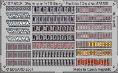 Фототравление 1/35 Знаки отличия немецкой полевой полиции 2 МВ Eduard 523