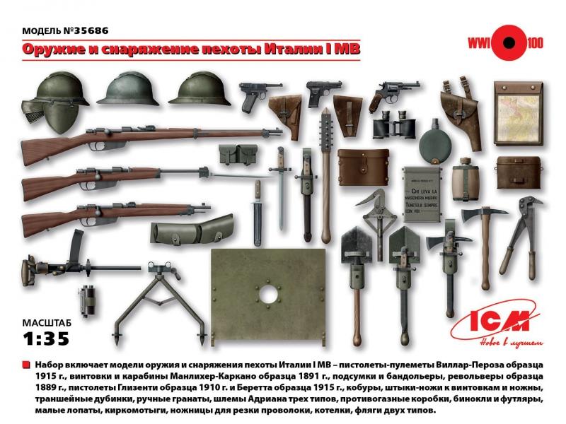 Оружие и снаряжение пехоты Италии І МВ ICM 35686