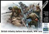 Британская пехота перед атакой, Первая мировая война