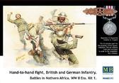 Солдаты британской и немецкой пехоты в рукопашном бою