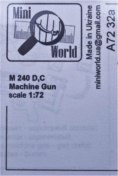 Единый пулемёт M 240 (D,C) Mini World 7232