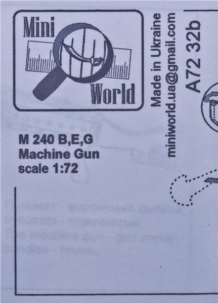 Пулемет M 240 (B,E,G) Mini World 7232