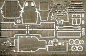Фототравление для cамолета Ильюшин Ил-2 М3 (Toko)