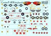 Декаль для самолета Curtiss P-40 Kittehawk