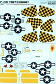 Декаль для самолета P-47D Thunderbolt Razorback Aces over Europe, часть 1
