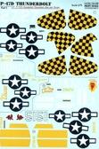 Декаль для самолета P-47D Thunderbolt Razorback Aces over Europe, часть 1 от Print Scale