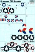Декаль для самолета Grumman TBF Avenger