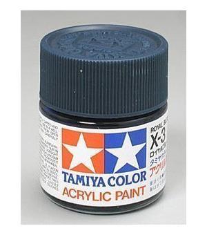 Акриловая краска 10мл Mini X-3 королевский синий (глянцевая) Tamiya 81503