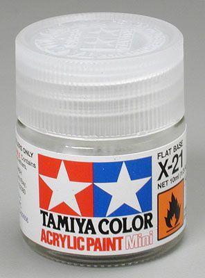 Акриловая краска 10мл Mini X-21 матовый пигмент Tamiya 81521