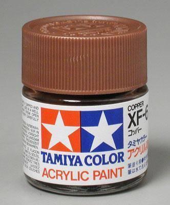 Акриловая краска 10мл Mini XF-6 медный Tamiya 81706