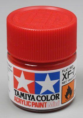 Акриловая краска 10мл Mini XF-7 матовый красный Tamiya 81707