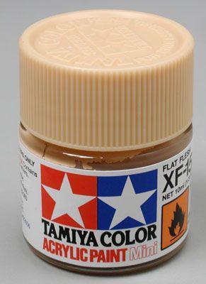 Акриловая краска 10мл Mini XF-15 телесный (матовая) Tamiya 81715