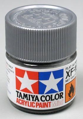 Акриловая краска 10мл Mini XF-16 матовый алюминий (матовая) Tamiya 81716
